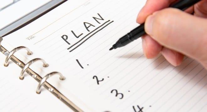 writing a to do list