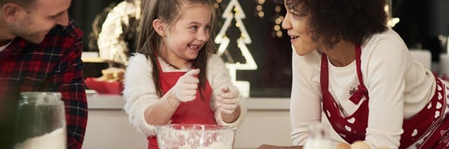 Christmas cooking with young people should be fun, make sure to give them tasks that they won't be overwhelmed by!